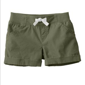Jumping Beans Rolled Cuff Shorts Olive Green New